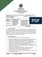 Syllabus PHY201 Physics II Fall phy 2 2013-2014