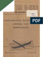 TM 9-888 6-TON SEMITRAILER, 2-WHEEL, 1944