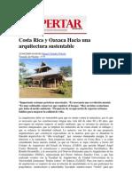 Costa Rica y Oaxaca Hacia Una Arquitectura Sustentable