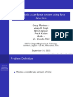 Automatic attendance system using face detection