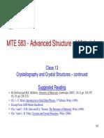 MTE 583_Class_13