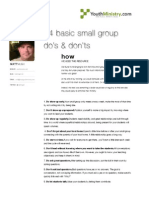 24 Basic Small Group Do's and Dont's