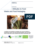 Exec Summary - Consumer Attitudes to Food Waste and Packaging