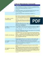 Server Administrator Commands