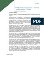 Dec. Relativa a Los Principios y Derechos Fund Amen Tales en El Trabajo, 1998