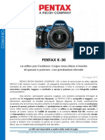 Press Release Pentax k30 It
