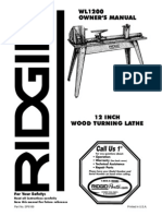RIDGID WL1200 Wood Lathe Manual