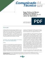 Boas Práticas de Manejo (BPMs) para Reduzir o Acúmulo de Amônia em Viveiros de Aqüicultura
