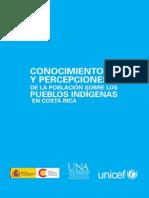 UNICEF- Conocimientos y percepciones de la población sobre los pueblos indígenas en Costa Rica