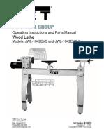 Jet Wood Lathe JWL-1642EVS Manual_708359