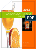 Elaboracion Del Vino de Mandarina