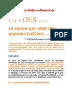Dossier Haitiano-Dominicain:Le sauve-qui-peut des paysans haïtiens par P. FERTIN,