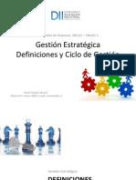 02 - Definiciones de Estrategia - Ciclo de Gestion Estrategica