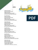 Five Little Ducks Lyrics