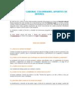Preguntas Relacionadas Con El Derecho Laboral Colombiano