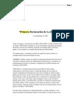 """""""Primera Declaración de La HABANA"""