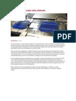 Crean la célula solar más eficiente