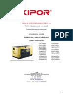Manual de Instrucciones Kipor