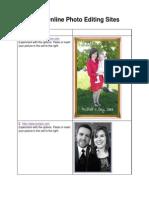 photo editing  sheet