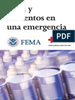 Agua y alimentos en una emergencia por FEMA
