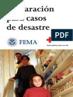 Preparación para casos de desastres. FEMA y Cruz Roja.