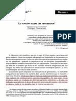 La Funcion Del Historiador. Florescano