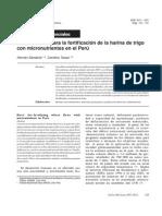 Fundam Para Fortif Harina en Peru