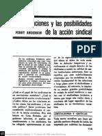 Las Limitaciones y las Posibilidades de la Acción Sindical - Anderson, Perry