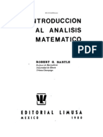 Introduccion Al Analisis Matematico Bartle
