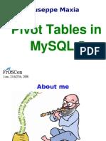 Pivot Tables Mysql 5
