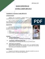 Bases Especificas Mister Guatona Candy y Reina Wachaca JIM 2013