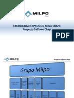 Presentacion Proyecto Sulfuros Chapi - Milpo