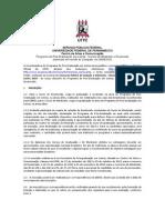 PGLetras UFPE Edital de Seleção 2014