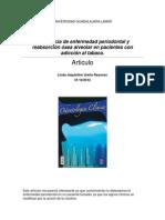 Frecuencia de enfermedad periodontal y reabsorción ósea alveolar en pacientes con adicción al tabaco