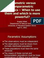 Parametric vs NonparametricStats
