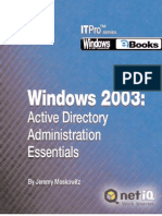 Windows 2003 Active Directory Administration Essentials 5