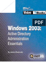 Windows 2003 Active Directory Administration Essentials 6