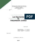 Los Argumentos de Interpretacion - Eficacia