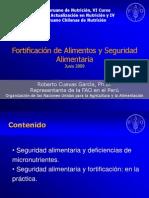 Fao y Fortificacion de Alimentos Congreso Peru