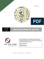 100 MCQS from Al-Qur'an