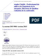 La Norme ISO 9001 Version 2015 _ Le Blog de Christophe Chabbi _ Qualitae SAS