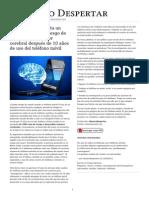 Nuevo estudio_ Hasta un 290% aumenta el riesgo de desarrollar un tumor cerebral después de 10 años de uso del teléfono móvil