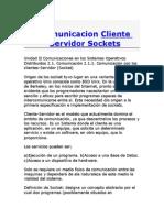 Comunicacion Cliente Servidor Sockets