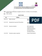 Agenda de Trabajo 01 de Marzo 2010