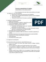 Minuta y Agenda de Trabajo 13 de Octubre 2011
