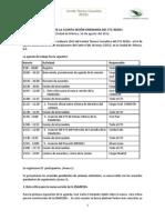 Minuta y Agenda de Trabajo 14 de Agosto 2012