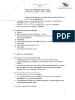 Minuta y Agenda de Trabajo 18 de Noviembre 2011