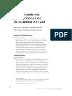 Cuelenaere, L. Rabasa, J. 2012. Pachamamismo, o Las Ficciones de (La Ausencia de) Voz