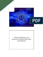Teoría Cuántica y la estructura atomica de los atomos