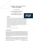 A Throughput Analysis of TCP in ADHOC Networks